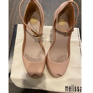 Melissa nude wedge sandals size 6